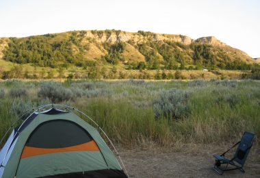 Camping in Theodore Roosevelt National Park, North Dakota (Flickr by stereogab)