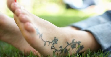 Tattooed ankle