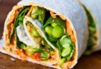 Bullseye and Hummus Spiral Wraps