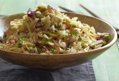 Asian Slaw with Ginger-Nut Dressing