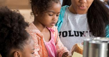 children giving back